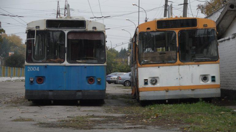 Старі тролейбуси у Черкасах