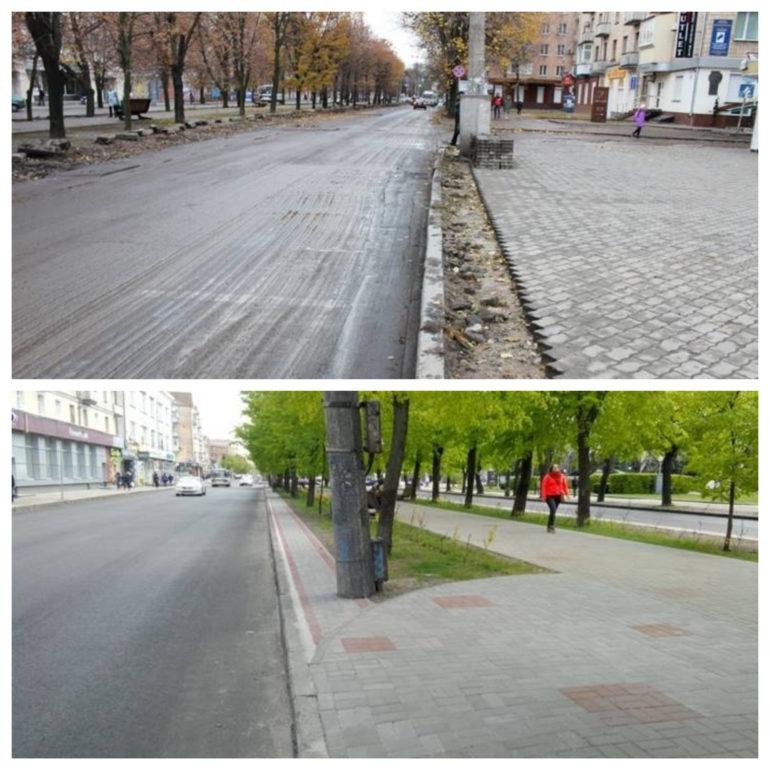 Фото ремонту бульвару Шевченка