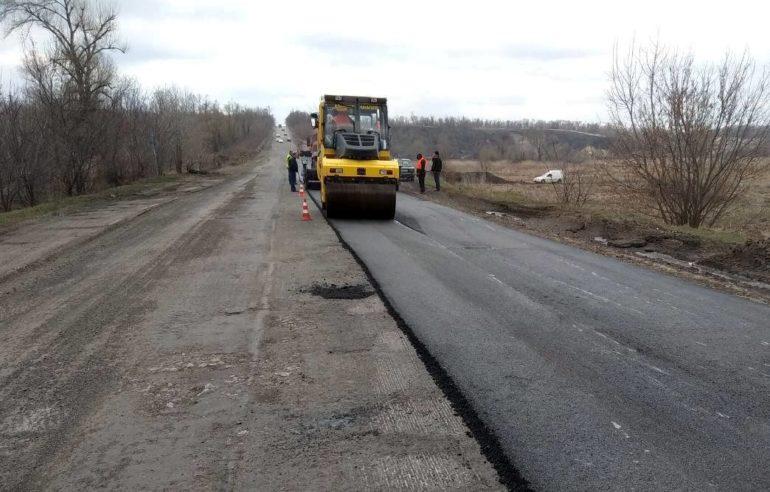 Фото ремонту дороги біля Золотоноші