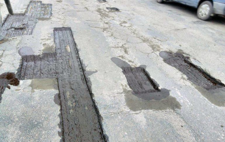 Фото ремонту доріг ямковий ремонт на Черкащині