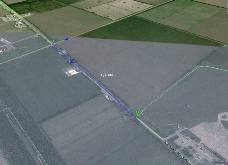 карта дороги за Черкасами