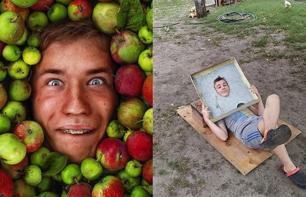 Артем Матюшенко фотографує голову